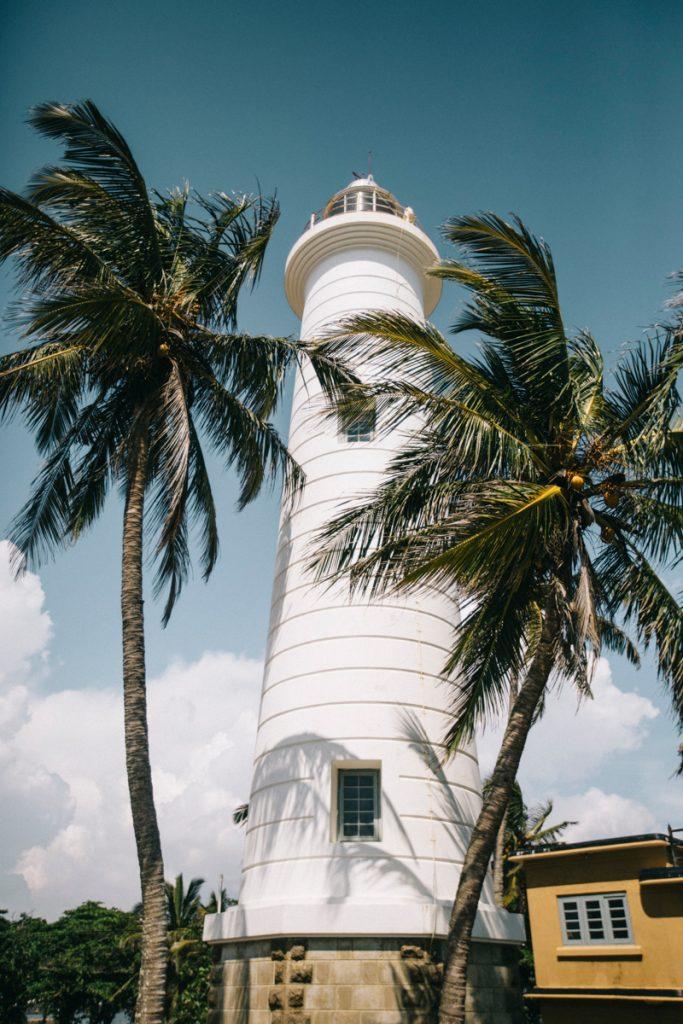 le phare de Galle la ville coloniale de la côte ouest