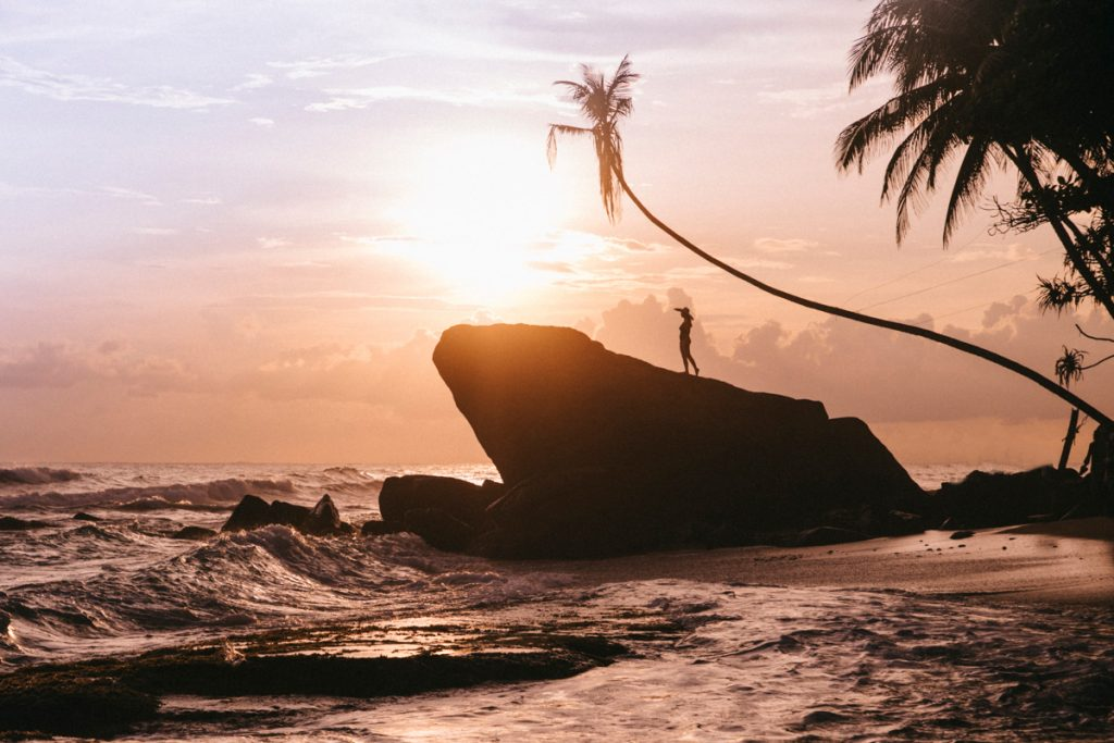 la photo la plus instagrammable du sri lanka sur la plage de Delawella