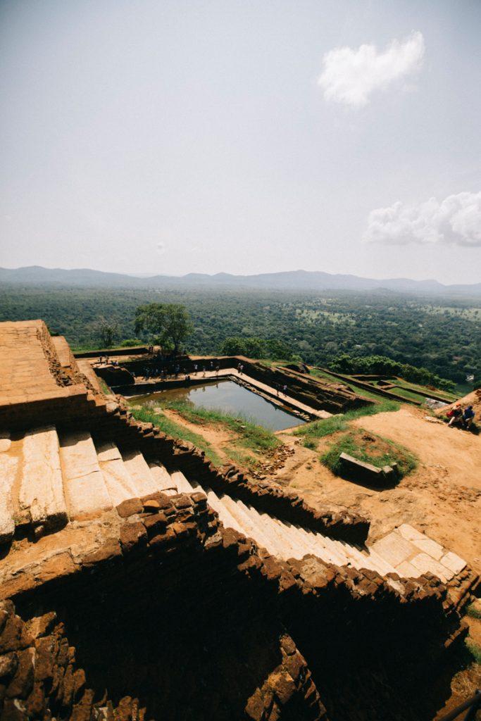 les piscines du palais royale de Sigiriya