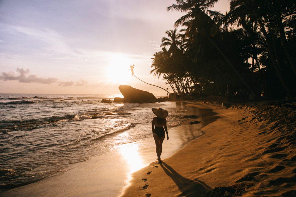les plage de la côte sud au Sri Lanka
