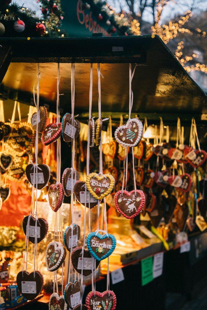 la tradition des pains d'épice sur les marché de Noël