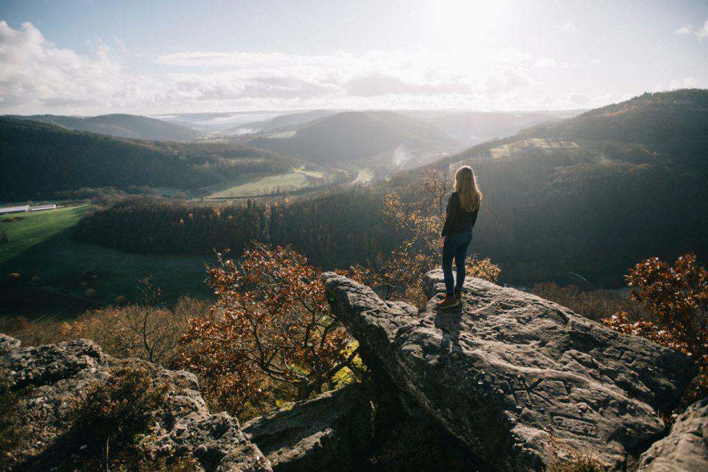 le panorama Eifelblick d'Eugeneinstein dans le parc national