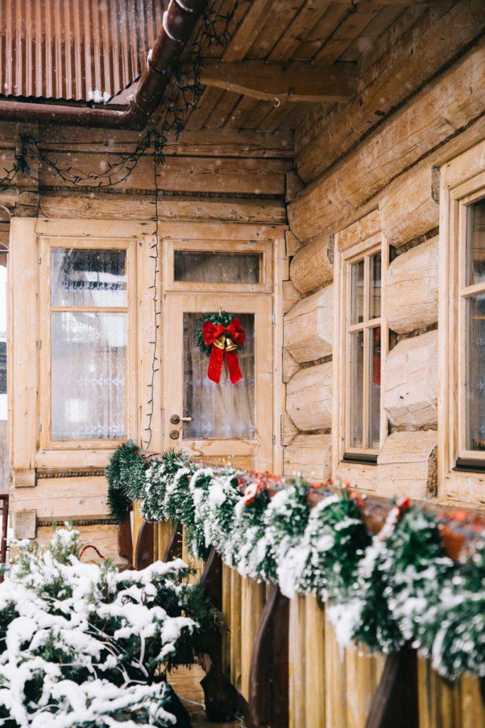 les décorations de noël dans le village de Chocholow