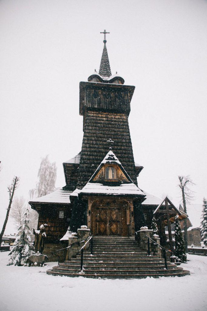 une église en bois dans la région de la Petite pologne