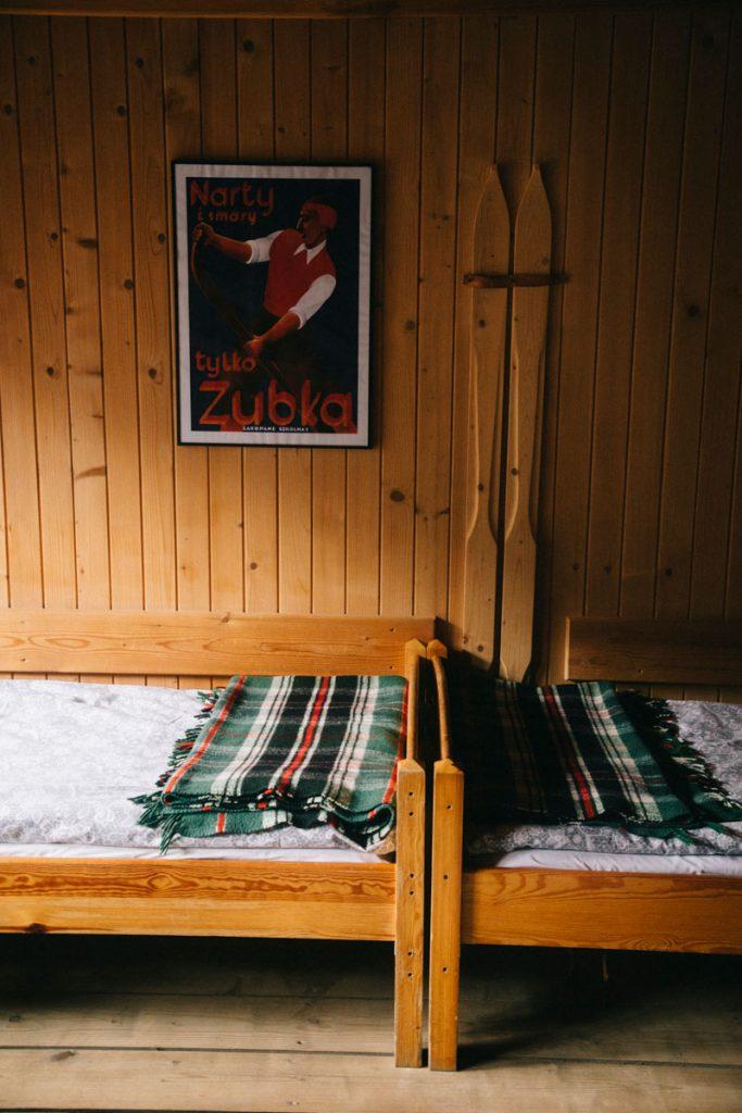 les chambres des refuges dans les Tatras