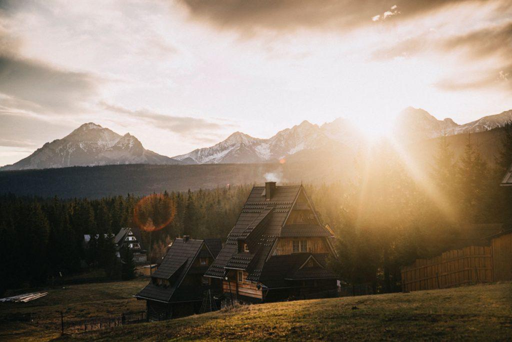 Les belles maison traditionnelles des Tatras polonaises
