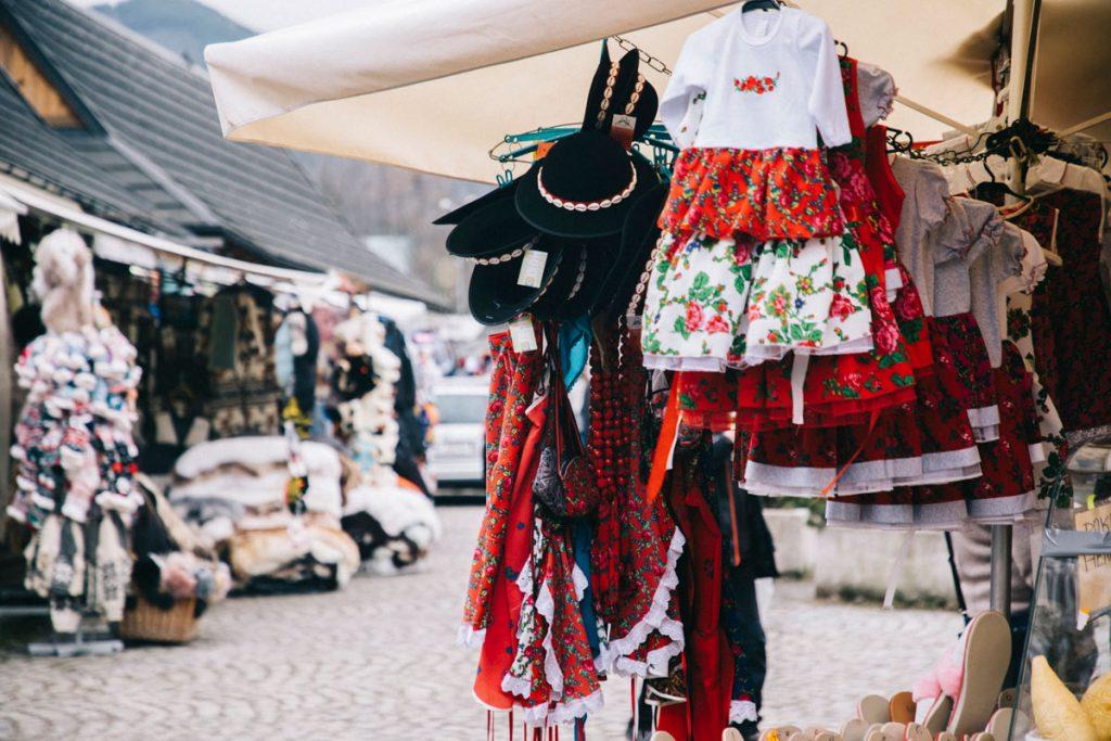 la ruelle de Zakopane au centre-ville