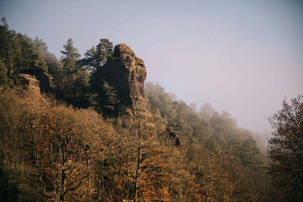 les rochers en grès dans le parc national d'Eifel