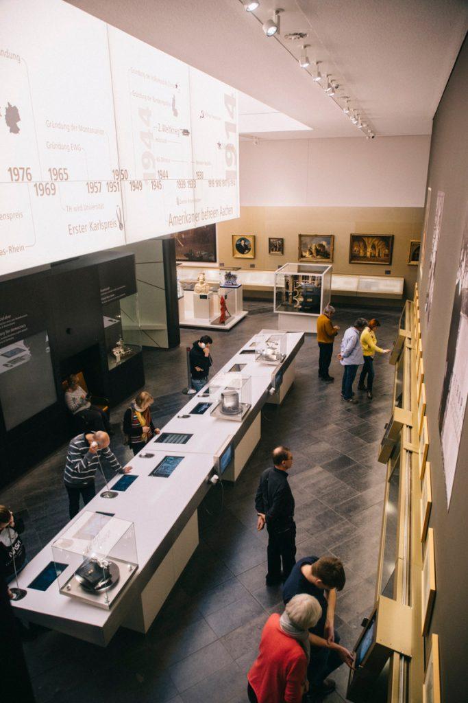 L'exposition du centre Charlemagne à Aachen