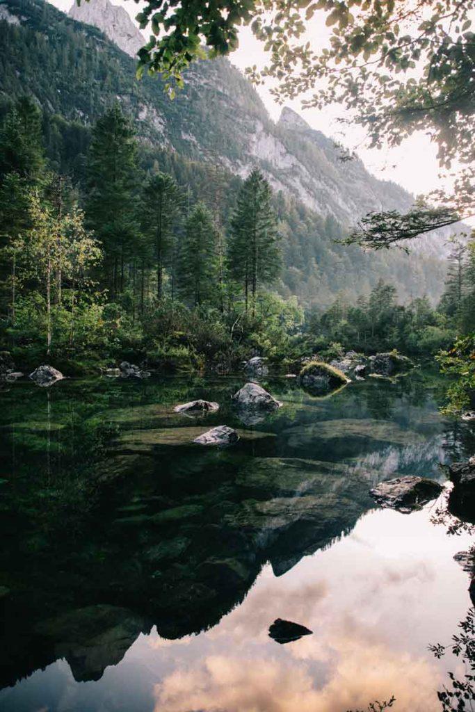 Paysages magnifique au lac de gosausee en Autriche