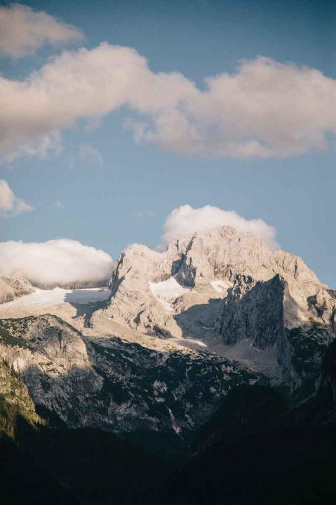 le magnifique glacier de horer Dachstein en Haute Autriche