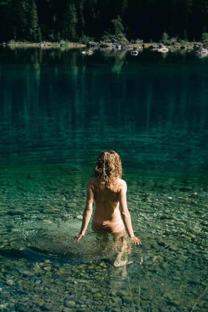 se baigner dans les lac en Autriche