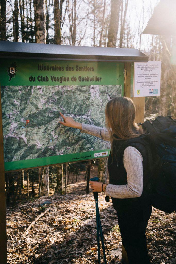 carte de la forêt domaniale de Guebwiller