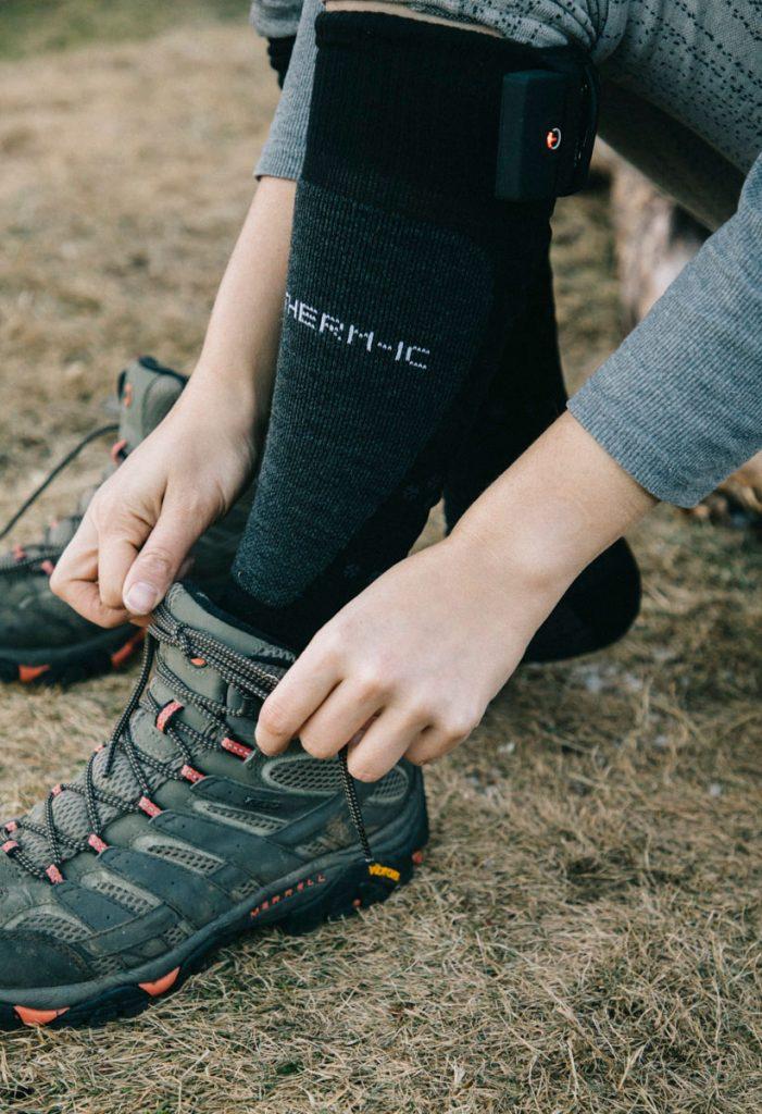 chaussures imperméables et gore tex Merrell Moab pour une randonnée en hiver