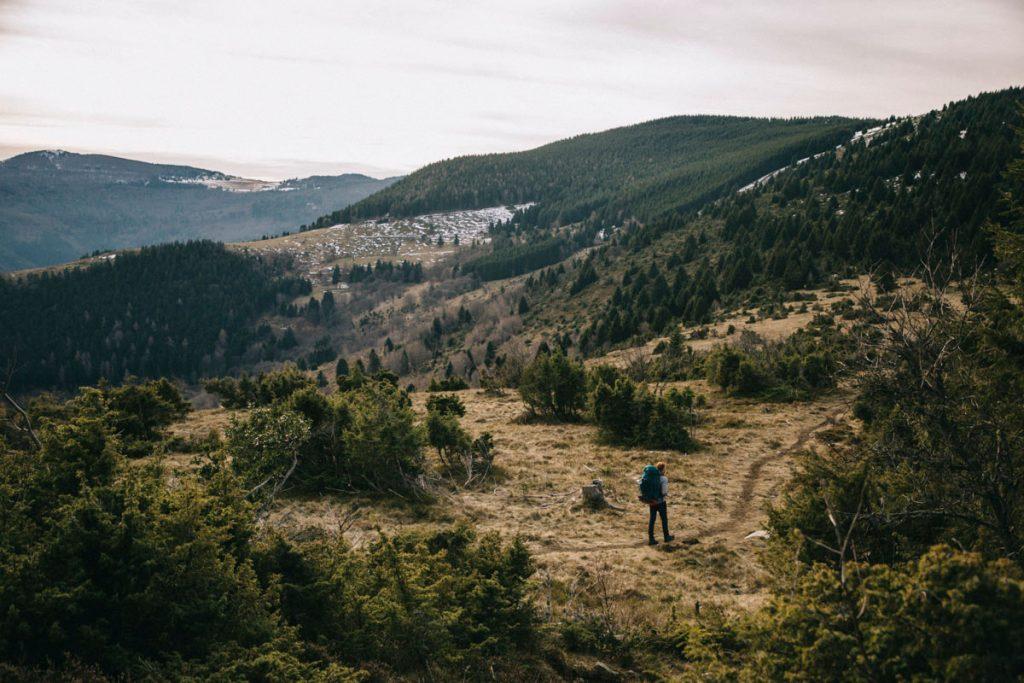 randonner sur les crêtes des sommets des Vosges