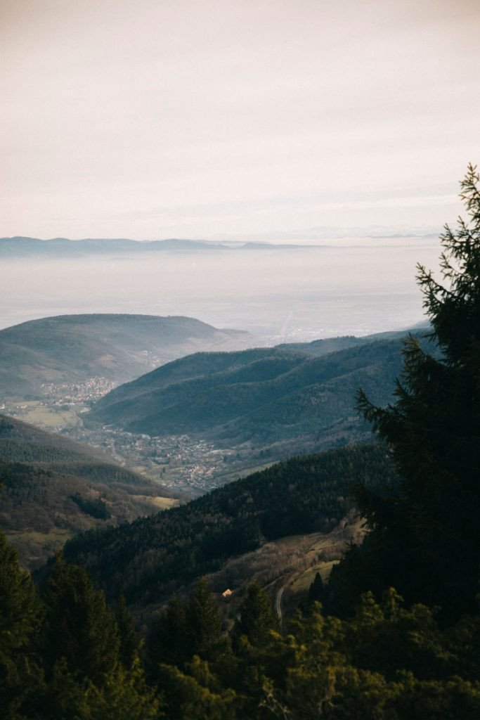 panorama sur Guebwiller depuis le Hilsenfirst