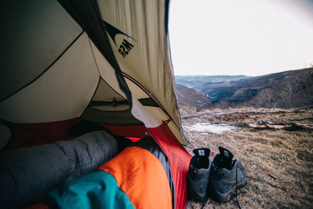 le matin du 1 janvier avec un réveil magnifique avec la vue sur la vallée de Munster
