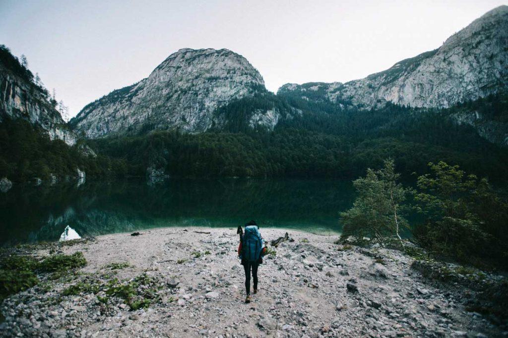 Le lac de Gosau et l'itinéraire de randonnée en famille