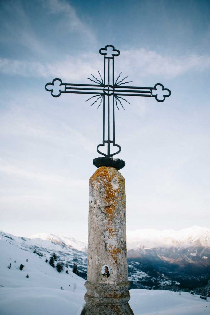 la croix de fer au col d'Arves en Maurienne