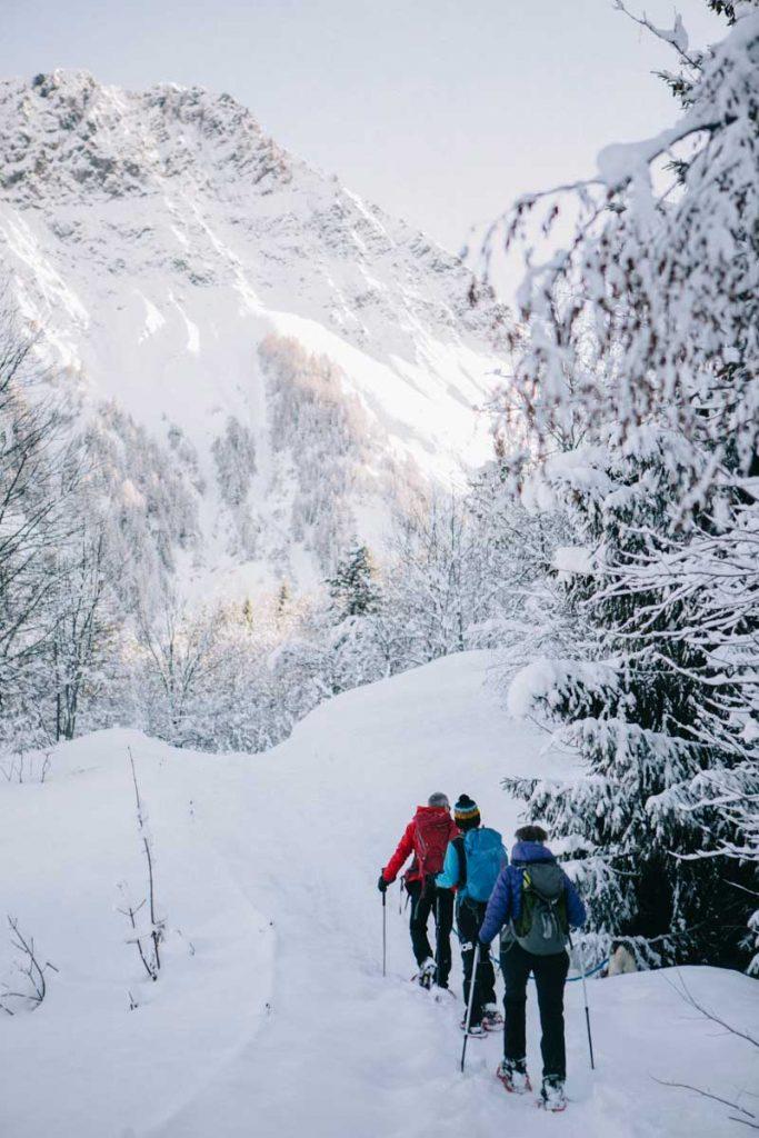 randonnée en raquette sur le domaine skiable des Sybelles en Maurienne, Savoie