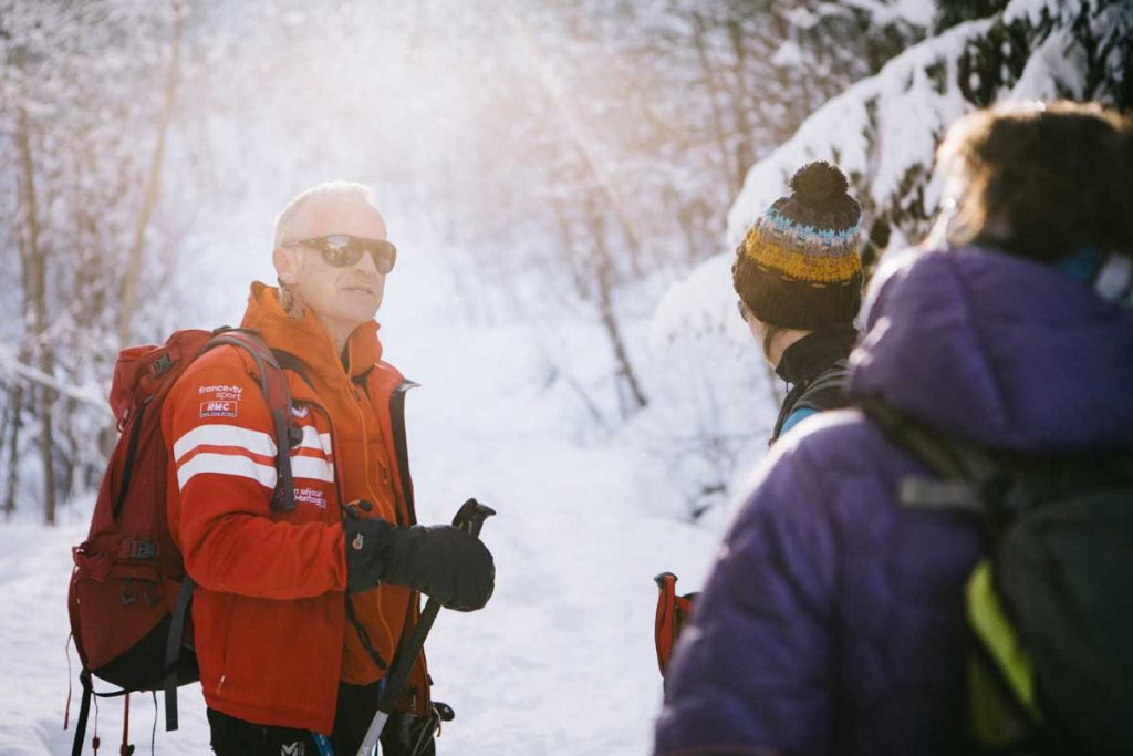 Jean-Marie notre guide de l'ESF du Corbier pour la sortie en Raquette jusqu'au col d'Arves