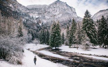 le paysage du Corque de Saint-même sous la neige