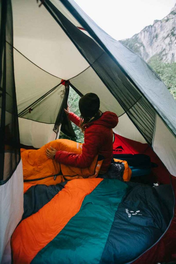 mon équipement pour camper en été en Autriche