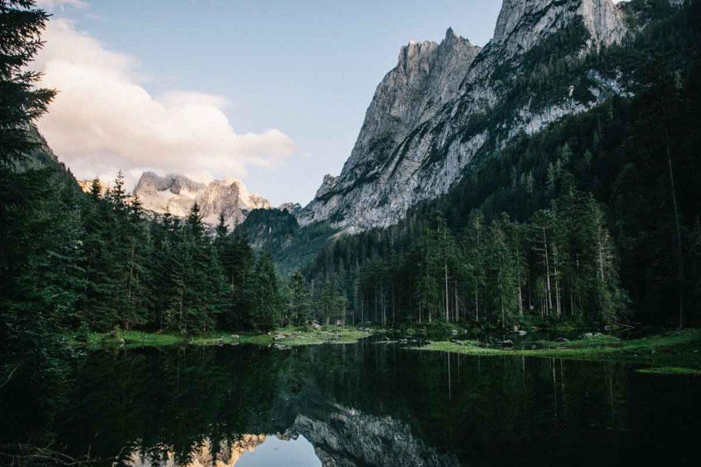 l'itinéraire de la randonnée du lac de Gosausee en Haute-Autriche
