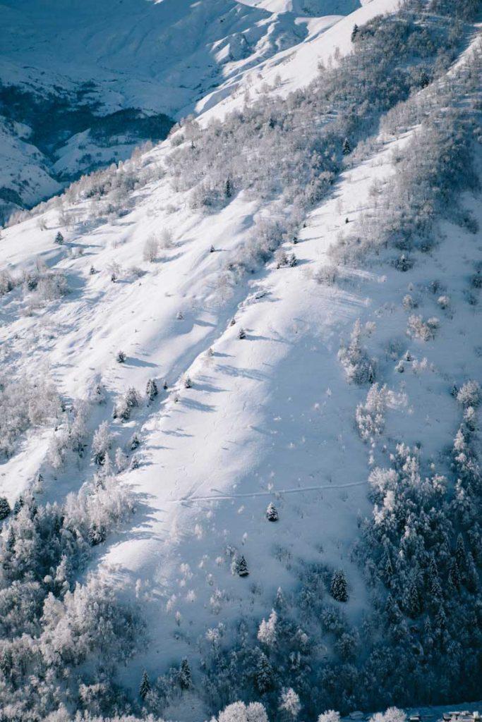 les paysage de la vallée d cela  Maurienne en hiver