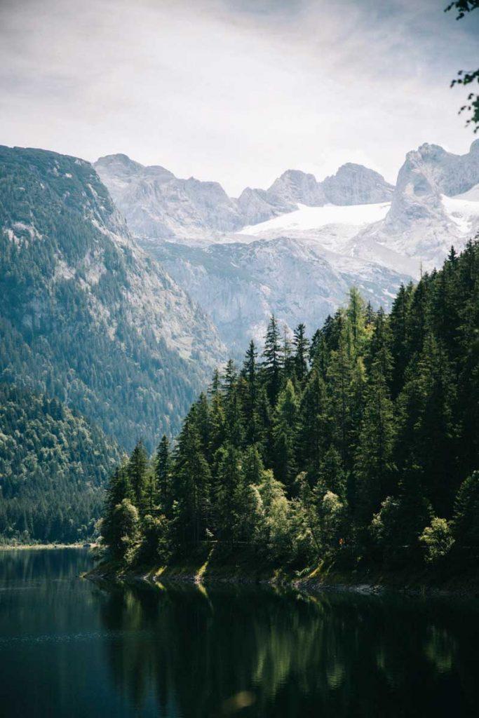 le lac de gosausee et le glacier de Horer Dachstein