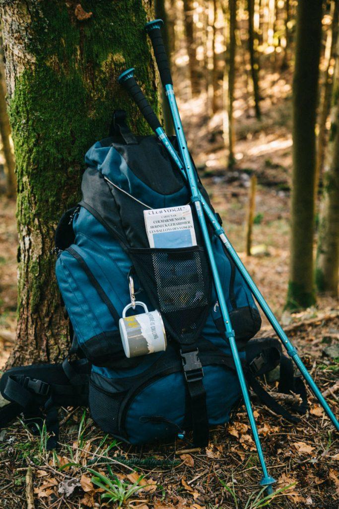 mon sac à dos pour une randonnée itinérante dans les Vosges