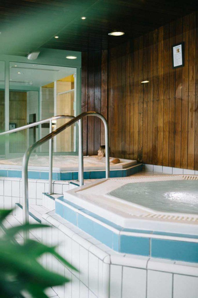 l'espace détente du Corbier : jacuzzi, hamam, sauna