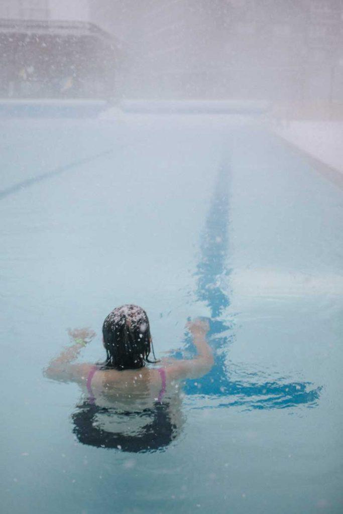 l piscine extérieure chauffée de la station du Corbier