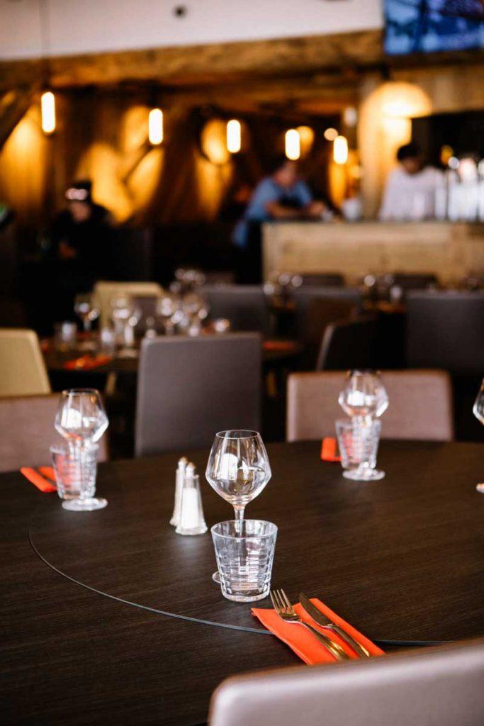 le restaurant des roches blanches au pied des pistes du Corbier