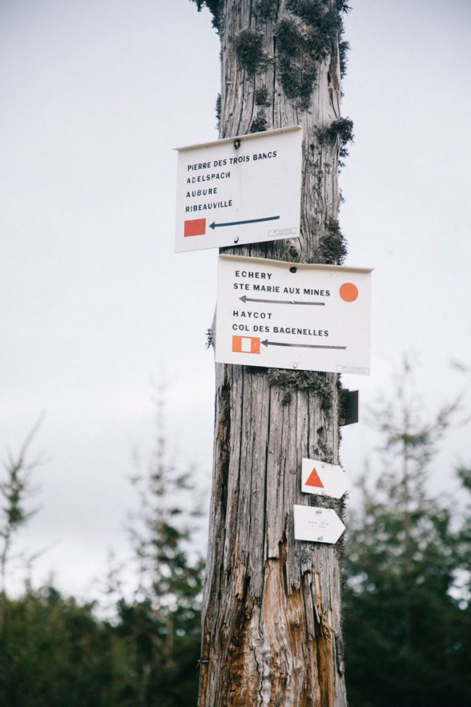 les itinéraire tracés par le club Vosgien au départ du petit Brézouard