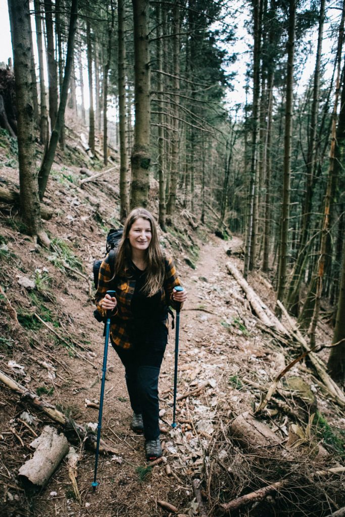 le sentier de randonnée vers le petit Brézouard dans les forêts vosgiennes