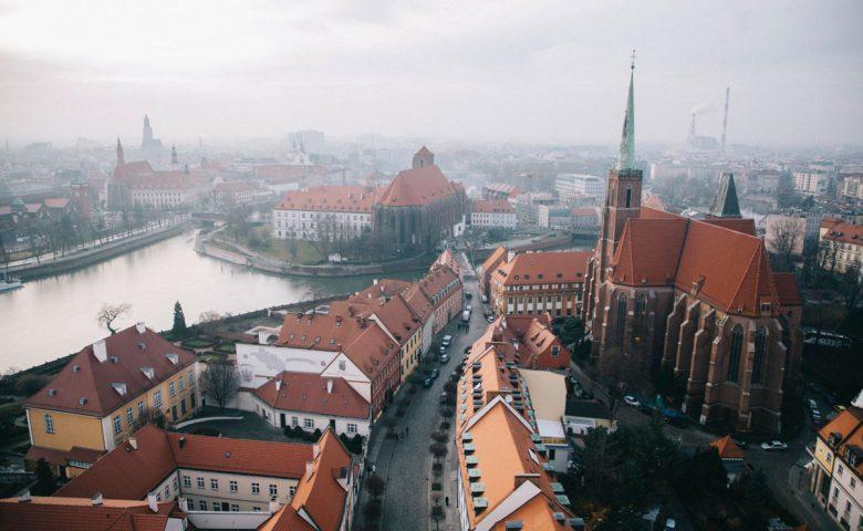la vue depuis le belvédère de la cathédrale de Wroclaw