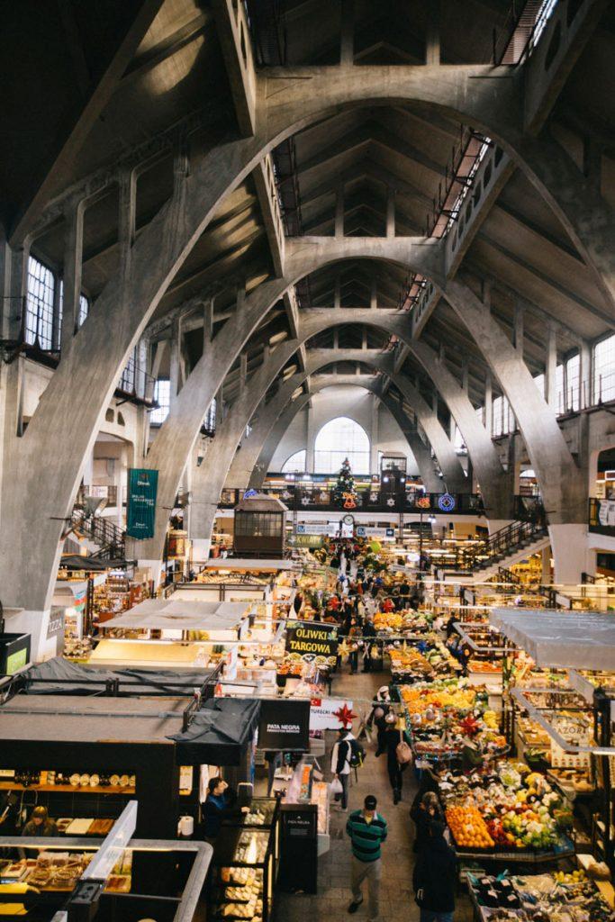 la hala Targowa un marché couvert classé en Pologne