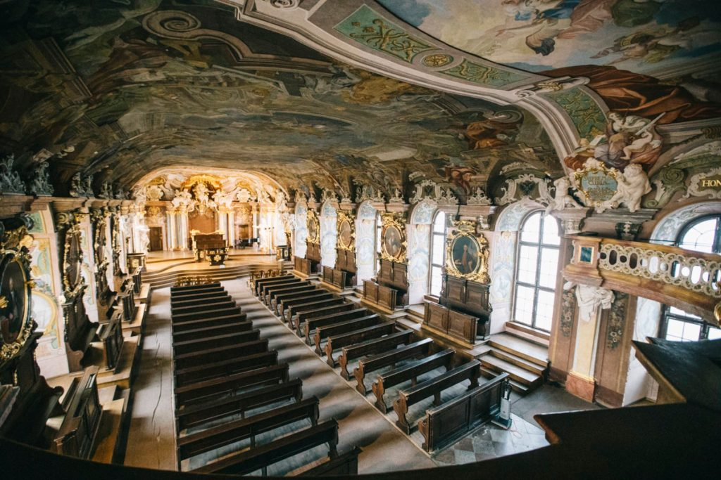 la salle baroque Leopoldine de l'université de Wroclaw