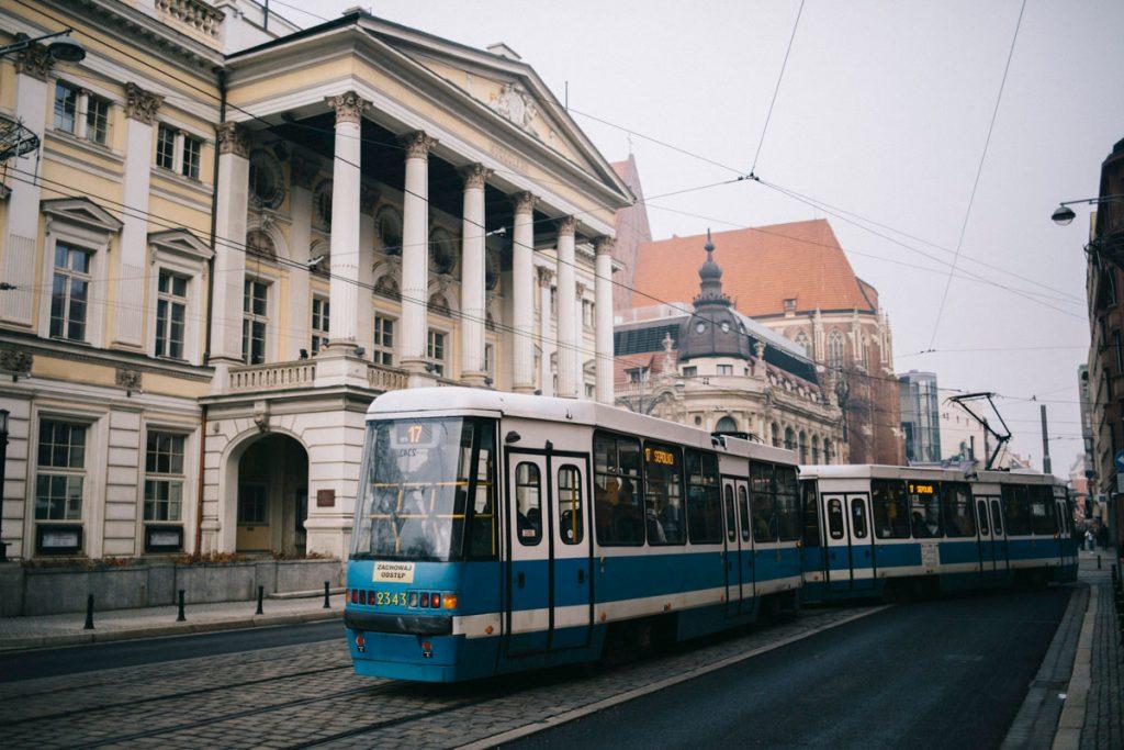se deplacer en tram à Wroclaw