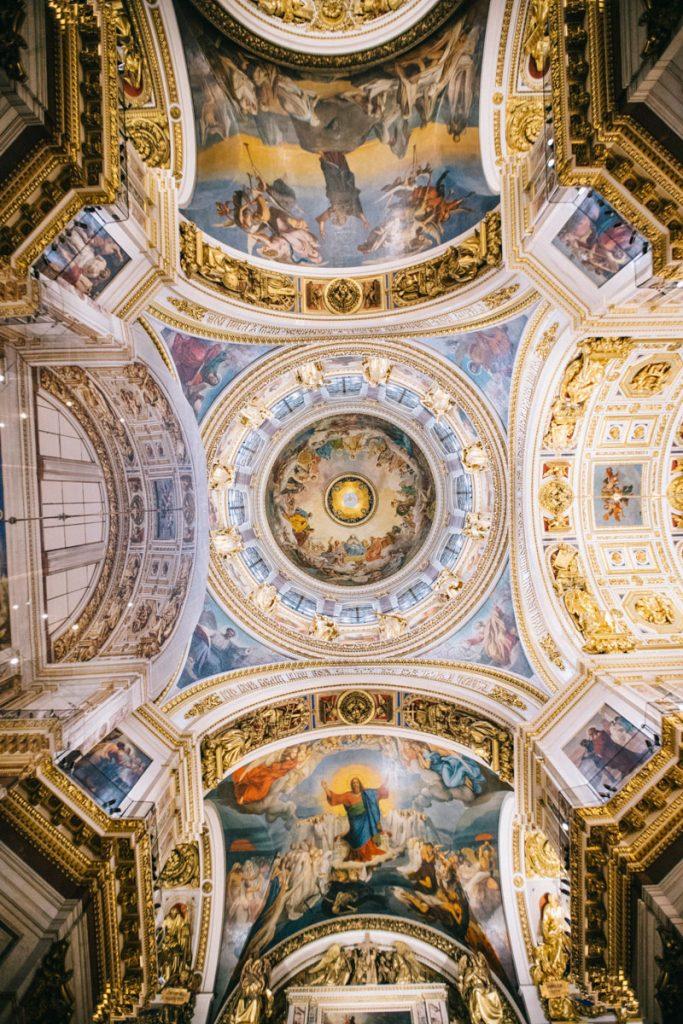 les mosaïque de la cathédrale orthodoxe de Saint-Petersbourg