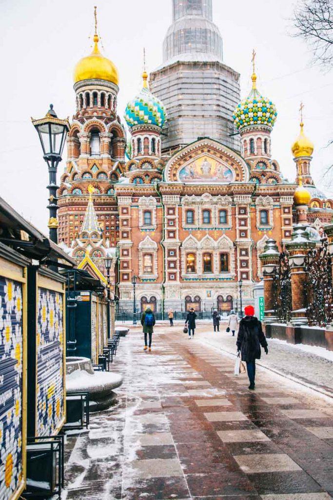 l'église de Saint-Sauveur du sang versé en Russie à Saint-Pétersbourg