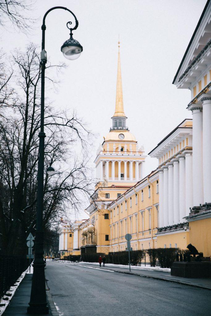 les bâtiments de l'amirauté à Saint-Petersbourg