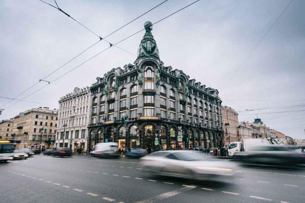 La Perspektiv Nevski en centre-ville de Saint-Petersbourg