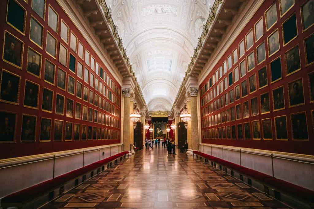 la galerie de la guerre dans le musée de l'Ermitage en Russie