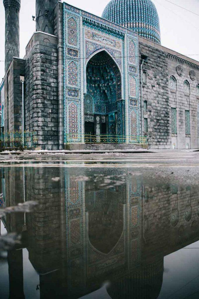 le grande Mosquée bleue à Saint-Petersbourg
