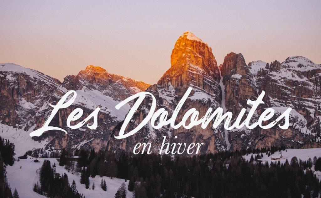 La région d'Alta Badia dans les Dolomites en hiver : que voir et que faire comme activités hivernales. crédit photo : Clara Ferrand