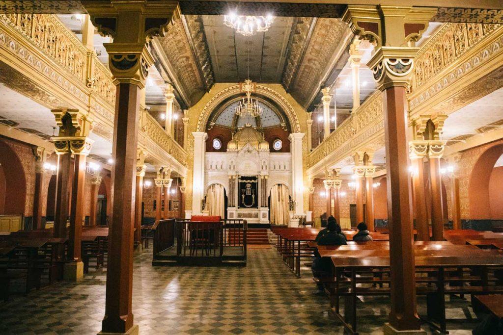 La grande synagogue du quartier juif à Cracovie. credit photo : Clara Ferrand - blog Wildroad