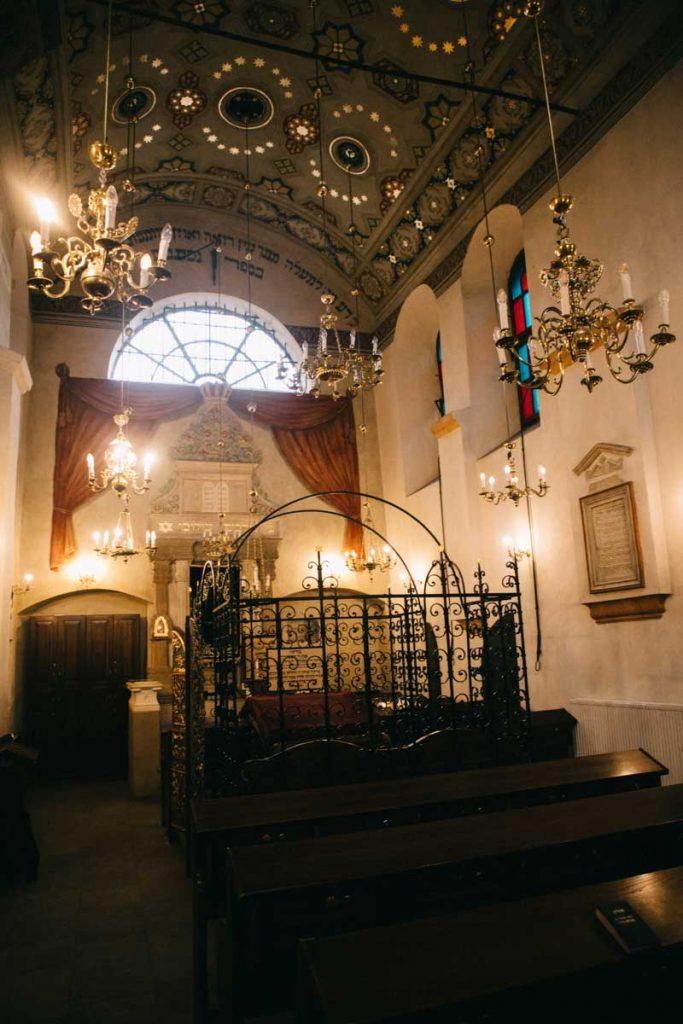 La synagogue de Remuh dans le quartier juif de Cracovie . Crédit photo : Clara Ferrand