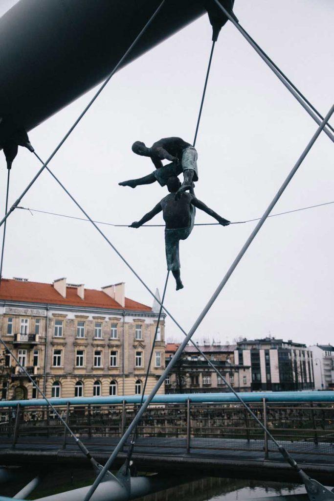 Le pont des danseurs qui relie Kazimierz à Podgroz le ghetto juif. credit photo : Clara Ferrand - blog Wildroad